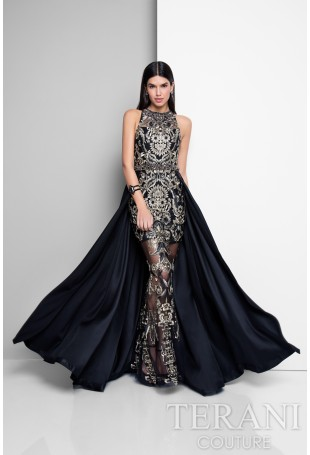 Exclusieve Avondjurken.Terani Couture E3648
